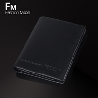 free shipping  cowhide genuine leather wallet male wallet short design vertical wallet