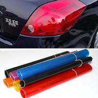 "Auto Car Smoke Lamp Fog Light HeadLight Taillight Tint Vinyl Film Sheet Car Sticker  12"" x 24"" 01JI"