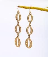 Hollywood 2014 Fashion Designer Jewelry Luxury Campanula Chandelier Zero Punk Gold Brief Cutout Circle Drop Pierced Earrings