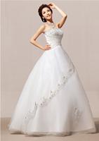 2014 New Design Luxury Bridal Wedding Dress, Off The Shoulder Crystal Hollow To Floor Dress HS80