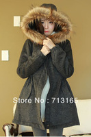 Free shipping New female Warm woolen cloth coat  long waist cloth coat