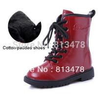 children boots boy's girl's child boots medium-leg children snow boots fashion kids martin boots winter cotton-padded shoes