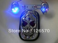 FREE SHIPPING Skull Skeleton Rear Tail Light Mount Plate for Yamaha V-star Midnight Star Road Star XV Raider S Chopper Custom