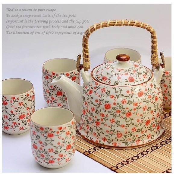 Ceramics tea set 7 household big set tea set modern household items gift coffee tools one
