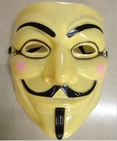 PVC HOT Halloween Masquerade Face Mask V For Vendetta Guy Fawkes Fancy Dress Party