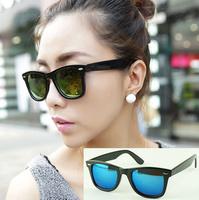 Freeshipping wholesale R2140 classic retro-reflective lens sunglasses bright and colorful black-rimmed sunglasses