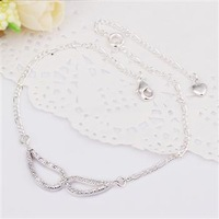 SPCA007 | factory price wholesale fashion jewelry | 925 silver plated High quality anklets Chain|Promotion Free shipping
