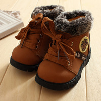 Free shipping  boy snow boots/children winter boots/anti-slip baby boy footwear/Toddler shoes/winter shoes with warming plush
