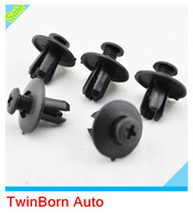 30 Pcs Fit For Honda B16 B18 B18C B20 H22A EK9 Rivet Black Fastener Bumper Clip Push Retainer Screw Fender  H0012