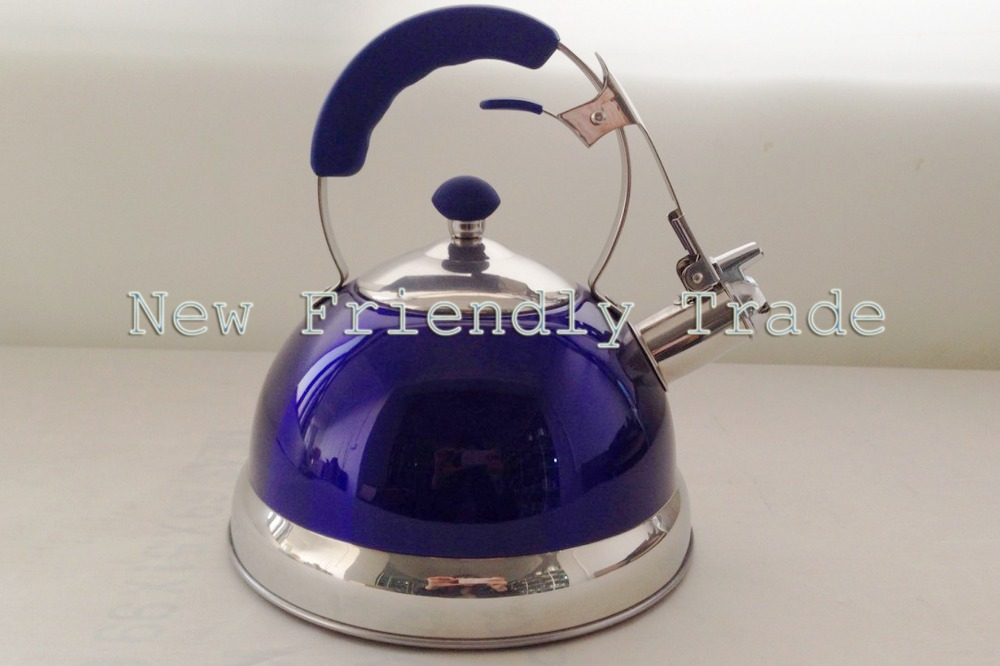 2.5L Whistling kettle/ Stainless Steel/ Tea Kettle/ Colored Kettle/ Kitchen Appliance/ BPA free(China (Mainland))