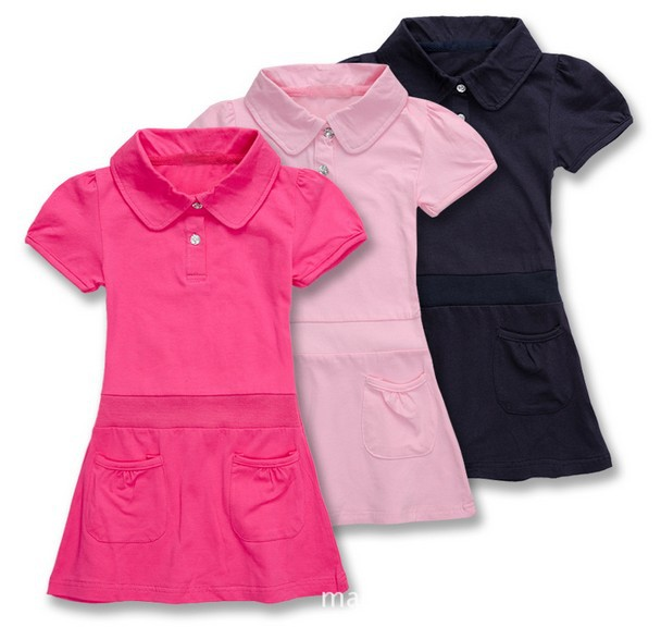 2-6yrs girls summer dress 100cotton Sports leisure dress kids children high quality dresses nice color 839(China (Mainland))