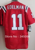 Free Shipping,#11 Julian Edelman Red Men's Elite American Football Jerseys Cheap Sale,Hot Promotion!Accept mix order