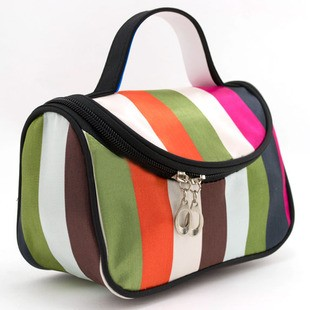 Free shipping fashion cute cosmetic bag large capacity bag travel bag Pouch bend shopping bag purse(China (Mainland))