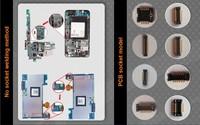 JTAG molex welding to phone pcb socket with JPIN
