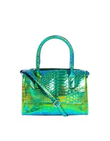 Free shipping New design laser handbag laser shoulder bag colorful laser shoulder bag Crocodile bag