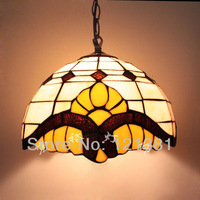 "Tiffany Lamp Pendant Lamp Dinning Room Cafe Hanging Lamp Stained Glass Lampshade Lighting Fittings for Entryway Baroque 12""W"
