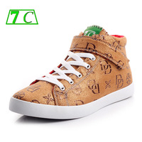 7c 2013 bronzier flannelet high quality fashion letter print shoes low-top casual shoes