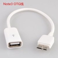 For Samsung Galaxy Note3 N9000 N9005 OTG Cable Micro USB 3.0 Adapter OTG USB Data Cable For Galaxy Note3 free DHL/FEdex