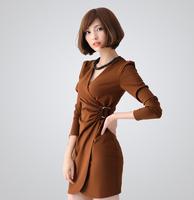 2013 autumn one-piece dress ol slim waist slim elegant one-piece dress l46