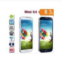 Multi-language New 1:1 mini S4 i9190 phone  960*540 MTK6572 Dual Core Android 4.2 512M RAM 4G ROM 3G  i9500 phone