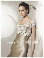 Hot Sale Elegant Sheath Party Dress Lace Satin Mother Of The Bride Dress With Jacket