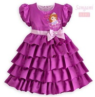 2013 Children Baby Girls Cartoon Cake Dress Princess Dress Free Shipping 5 PCS