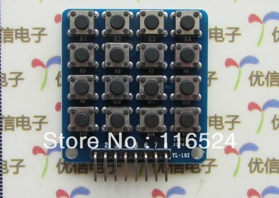 4 * 4 matrix keyboard module keyboard module microcontroller module(China (Mainland))