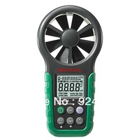 Mastech MS6252B Digital Anemometer T&RH Sensor Air Wind Speed Velocity Meter USB Interface