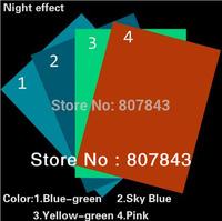 2PCS sizeA4 Premium Luminous GLOW IN THE DARK Tape Sheet Sticker luminous film 4 color choose