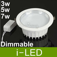 Dimmable 3W 5W 7W  LED Ceiling light DownLight Recessed Lamp Bulb 110V-240V with power driver warm / cold white free shipping