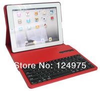 50PCS/LOT FOr IPad 2 3 4 9.7inch Separable Bluetooth keyboard 360 degree leather rotating cover case with stand holder Retailbox