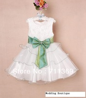 Free shipping wholesale faction lovely Wedding dress little girl pricess dress Princess dress children's skirt 3-8Y