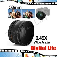 0.45X 58mm Wide Angle Lens with Macro for Canon EOS 350D/ 400D/ 450D/ 500D/ 1000D/ 550D/ 600D/ 1100D