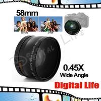 0.45X 58mm Wide Angle Lens with Macro for Canon EOS 350D/ 400D/ 450D/ 500D/ 1000D/ 550D/ 600D/ 1100D
