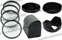 67 MM Macro Close Up Filter Lens Kit +1 +2 +4 +10 for all 67MM Camera Lenses + Petal Flower Lens Hood  + Lens Cap