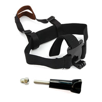 F06731-A Adjustable Light Weight Head Belt Mount Headset Strap + Long Screw W/ Cap for GoPro Hero 3 Hero 2 + freeshipping