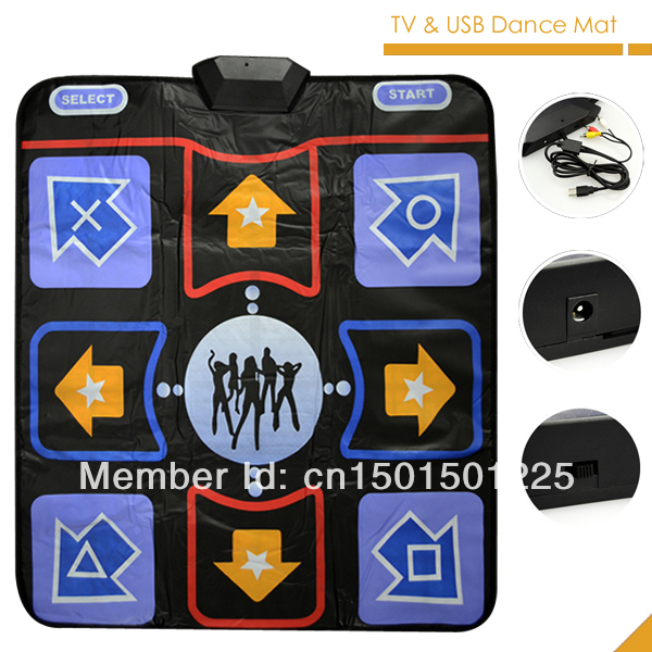 Hot sale Deluxe TV& USB 11mm Game dancing carpet english text 2GB memory card(China (Mainland))