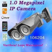 Varifocal Lens IP Camera 720P Support POE 1.0 Mega Pixels High definition Manual Zoom Lens Waterproof Webcam Security system