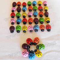 300PCS/LOT.Mixed color mini wood ladybug stickers,Sponge stickers,Easter decoration,Home decoration,Kids toys.Promotion cheap.