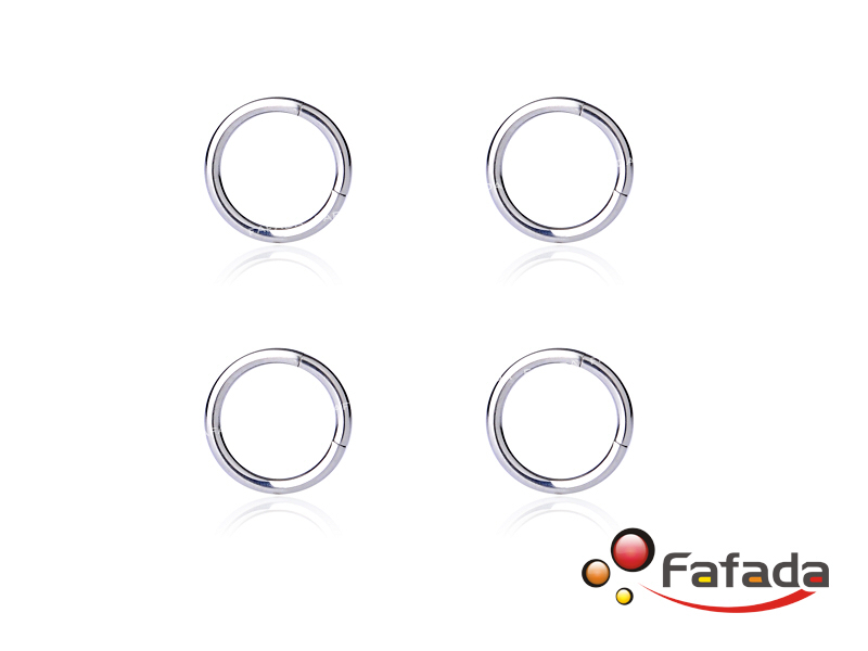 4 pcs 16 Gauge 16G Segment Lip Ring Hoop Nose Eyebrow Piercing Silver Titanium 8mm(China (Mainland))