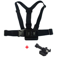 F05746-D Pectoral Girdle Chest Fitted Shoulder Strap + Quick-Release Buckle Mount W/ Screw for GoPro Hero 3 2 1+ Free shipping