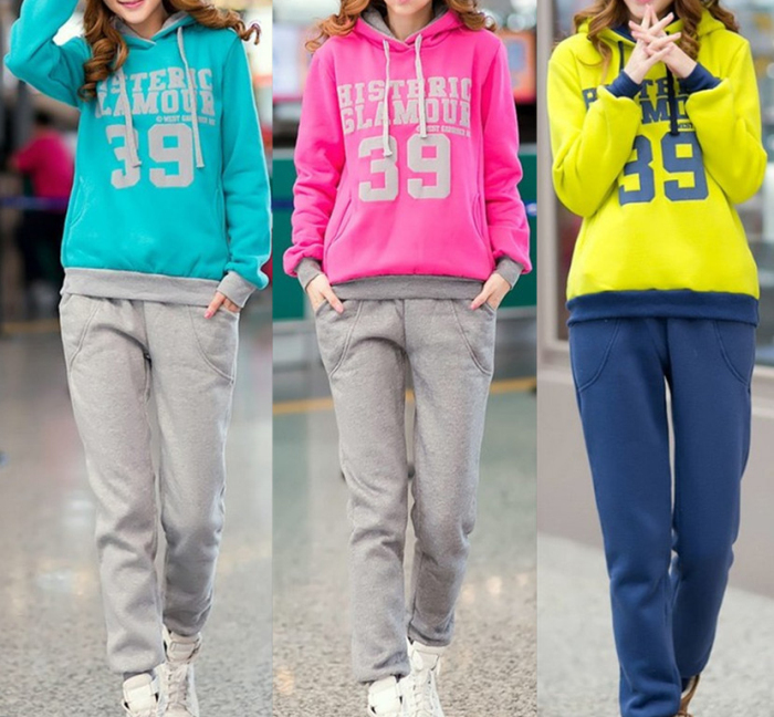 2013 New Style autumn and winter Korean Women Leisure Sports Hoodie &Set two-piece thickening of hoodies suit T-131(China (Mainland))