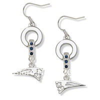 Free shipping Classic new england patriots  MVP crystal earrings 20 pairs a lot