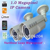 720P POE function IP Bullet Camera Varifocal Lens 2.8-12mm 1.0 Mega Pixels Plug and Play Webcam Waterproof Outdoor Camera