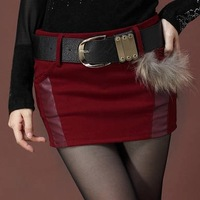 skirts women  autumn and winter women thickening woolen  slim hip miniskirt   bust   new arrived plus size women skirt