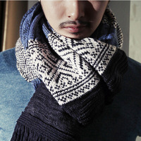 Fashion design lovers twisted tassel vintage national trend yarn jacquard pattern scarf