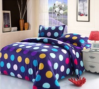 korean brand kid child blue dot  flower print stripe bedding sets queen size bedding bedspread set/bedclothes mattress cover