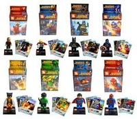 2014 Classic toys Lots of 8 sets SUPER HEROES series Minifigures building block toys for lego plastic bays the best gift for kid