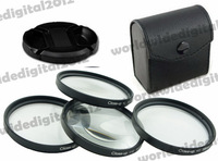 52 MM Macro Close Up Filter Lens Kit +1 +2 +4 +10 Petal Flower Lens Hood  Filter Kit for Nikon D5200 D5100 D3200 D3100