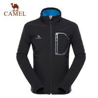 Camel outdoor soft shell clothing Men casual outerwear windproof fleece soft shell clothing 3f14029
